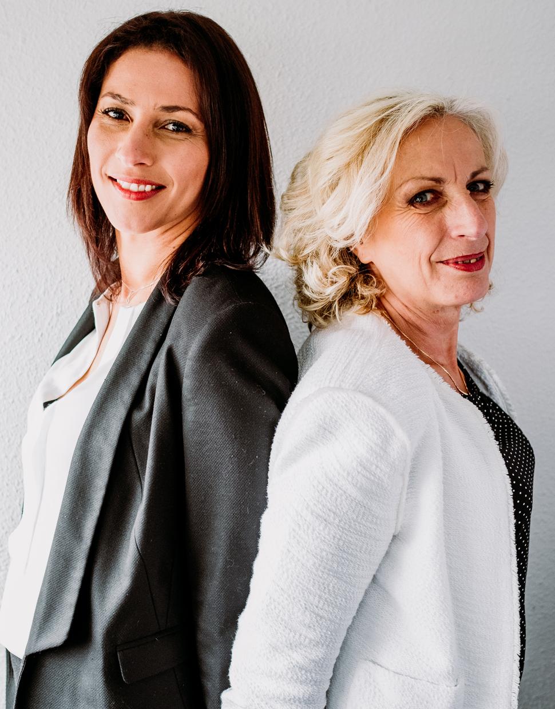 Sandra Vauna et Marie Villard, dirigeantes d'Alliance développement