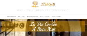 Visuel de la page d'accueil du site Web La Vie Contée