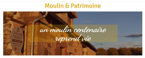 Visuel du site Web La Vie Contée - Moulin et patrimoine