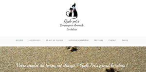 Visuel du site Cyclo Pet's, conciergerie animale bordelaise - pet sitting