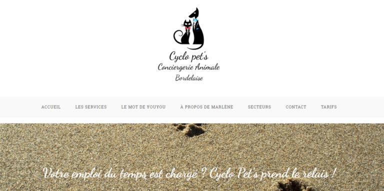 Mise en ligne du site Cyclo pet's
