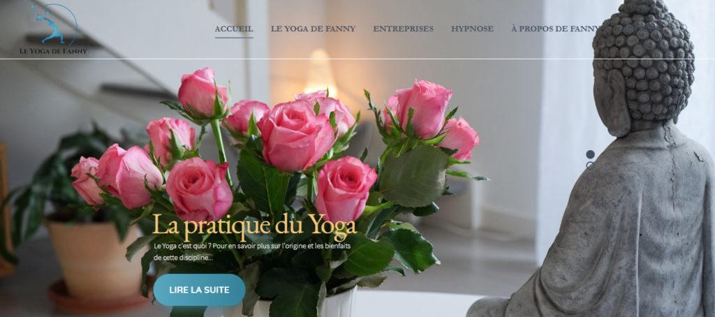 Page d'accueil de l'ancien site Le yoga de Fanny