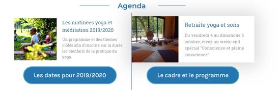 Visuel de la page d'accueil : agenda du yoga de Fanny