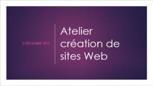 Atelier création de site web - Force-femmes - décembre 2019