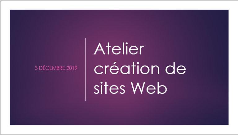 La création de sites Web : un atelier animé par La Griffe Éditoriale