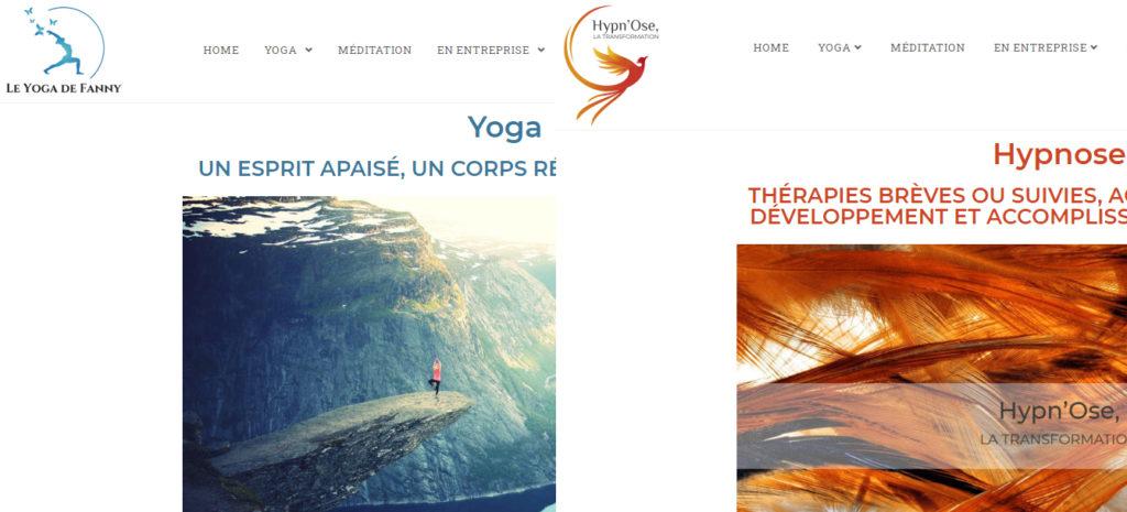 Un site web - deux univers - Le yoga de Fanny
