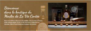 Page d'accueil de la boutique en ligne du Moulin de La Vie Contée