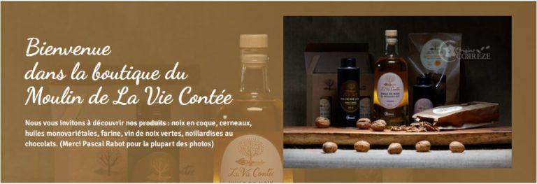 Mise en ligne de la boutique du Moulin de La Vie Contée