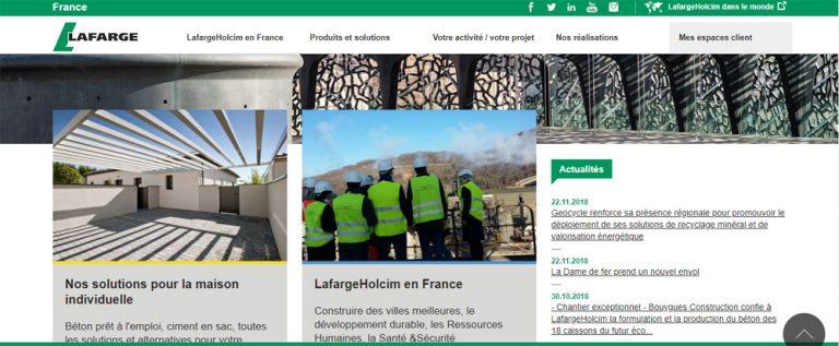 Exemple d'organisation des rubriques d'une page d'accueil